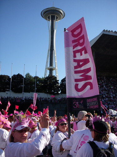 seattle space needle and the breast cancer 3 day walk dreams banner
