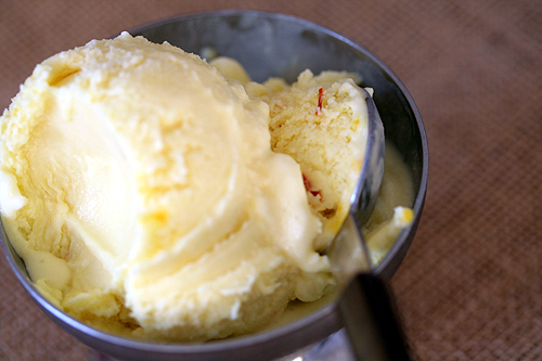 Coconut-Saffron Ice Cream