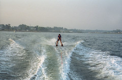Waterskiing On Moriches Bay (Joe Shlabotnik) Tags: 1988 peter waterskiing june1988 justpeter morichesbay