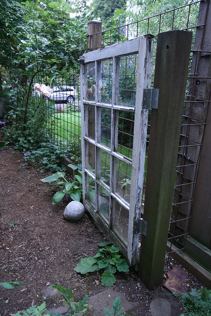 Unique recycled garden gate