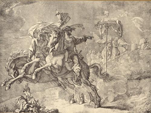 22- Fausto y Mefistófeles a caballo señalando el cadaver de Rabenstein