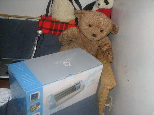 Big teddy holding the new baby..