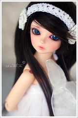 Phailin (r e n a t a) Tags: white macro branco canon toy thailand doll brinquedo blueeyes may mini bjd resin resina boneca sapphire bluefairy balljointeddoll tinyfairy 43cm faceupbytanya