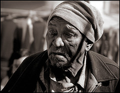 A Poor Man in the market (Sukanto Debnath) Tags: old portrait bw india white man black sony f828 sikkim nepali sikkimese debnath sukanto sukantodebnath