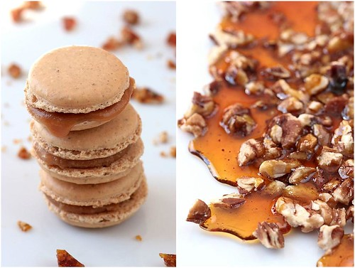Pecan Pie Macarons and Pecan Brittle