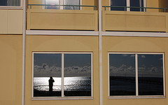 Windows (Ken-Zan) Tags: windows selfportrait water clouds mirror falkenberg kenzan strandbaden