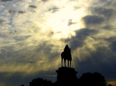 "The ""Canonization"" of Ulysses S. Grant (Kurlylox1) Tags: sky sun sunlight statue clouds grant rays capitolhill lightbeams ichabodcrane sunbeams godlight headlesshorseman usgrant manonhorse heavenlylight horsemanoftheapocalypse"