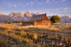 moulton barn (Matt Ottosen) Tags: park 3 barn exposure raw grand row national mormon wyoming teton hdr moulton grandtetonnationalpark photomatix gtnp mormonrow 3exposure moultonbarn