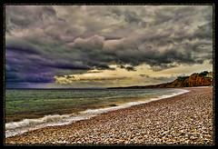 Pebble Shoreline (There and back again) Tags: sea holiday beach photoshop shoreline sigma pebbles devon budleighsalterton sd14 aplusphoto goldstaraward topazadjust