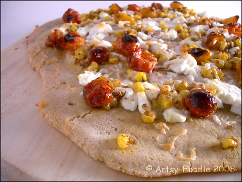 balsamic tomato & corn pizza