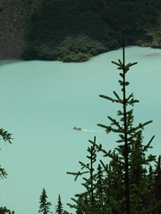 Lake Louise, Alberta, Canada (Surrealplaces) Tags: mountain lake canada water big rocky canoe alberta banff rockymountains lakelouise beehive