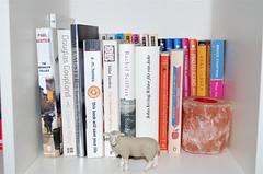 Bookshelf with sheep (Bowhaus) Tags: books bookshelf dsc9213 ©francescabondyallrightsreserved