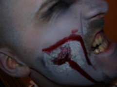 gnash (the_dan) Tags: halloween mike grey blood zombie attack makeup gore kelly undead sallow