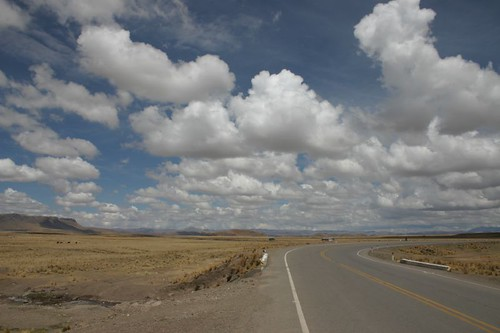 Altiplano cycling near Ayaviri, Peru.