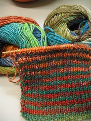 Election Day Noro Striped Scarf