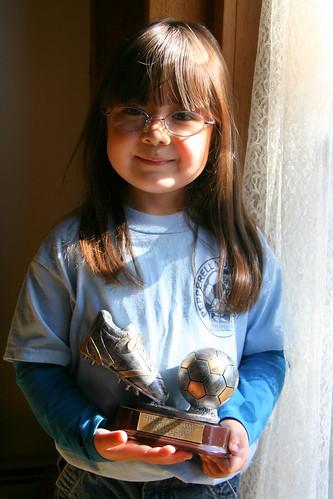Dova's soccer trophy