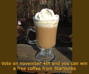Free coffee from Starbucks vor voters