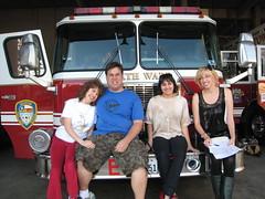 Team on a Fire Truck