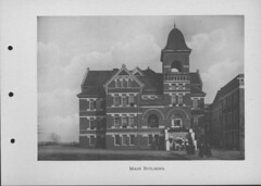 Georgia Normal and Industrial College Booklet Page Featuring the Main Building