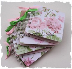 (4) Vintage Floral Post It Note Holders