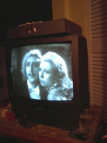 watching VCR movies - young frankenstein