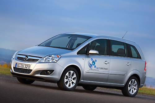 Opel Zafira 1.6 CNG Turbo: First Turbo-charged CNG Van,car, sport car