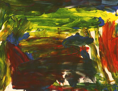 Jakoveon's finger painting