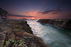 Muriwai Magic (Chris Gin) Tags: longexposure sunset newzealand beach auckland filter nz nd dri graduated muriwai alemdagqualityonlyclub damniwishidtakenthat photocontesttnc10