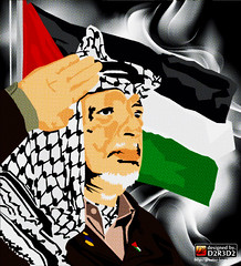 yasser arafat and palestine flag vector design by dede kharisma