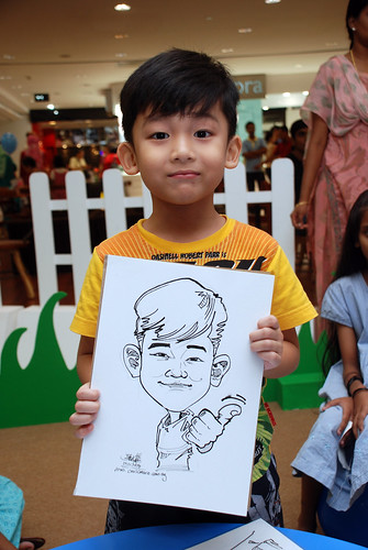 caricature live sketching for West Coast Plaza day 1 - 18