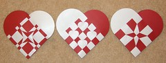 Christmas hearts (ebygomm) Tags: christmas paper hearts crafts danish woven julehjerter