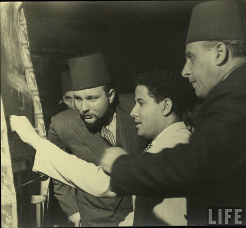 King Farouk in some carpet exhibition