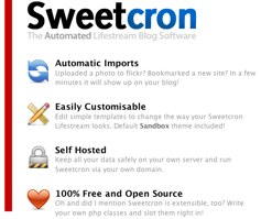 Sweetcron - The Automated Lifestream Blog Software