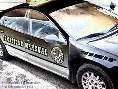 Tombstone Marshal (phil_sidenstricker) Tags: art cops explore policecar marshal lawenforcement treated heros goodguys fiveo explored donotcopy theheat carscarsandmorecars awardtree theenvyofphotoshopphotoart tombstoneazusa