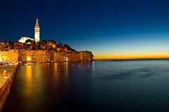 Rovinj by Night (Rolf F.) Tags: city longexposure sunset sea sky sun tower church water night canon landscape eos rebel town interestingness interesting meer sonnenuntergang croatia explore 1750 after 28 tamron landschaft rovigno rovinj f28 istria hrvatska istra kroatien istrien xti tamron1750 1750mm tamron1750mm 400d