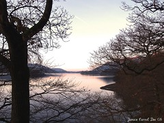 A Winter Sunset over Derwentwater (J.C.27) Tags: trees sunset lake water cumbria derwentwater winterscene