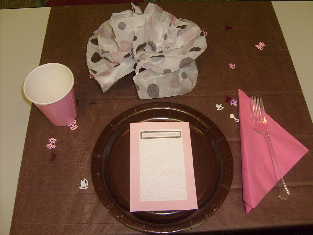 Pink&Brown Baby Shower Table Setting (1)