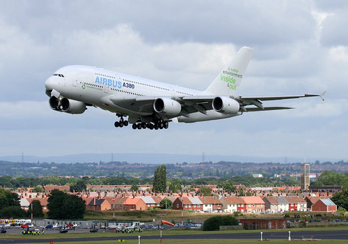 Airbus A380 visits Liverpool Airport by alancookson, on Flickr