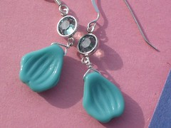 a new pair of handmade earrings