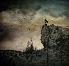 Twilight Cruiser (Midnight - Digital) Tags: sky storm birds mystery clouds dark roc weird twilight mood alone surrealism dramatic surreal atmosphere story feeling sight cinematic drama cruiser dreamcatcher hyperrealism justimagine midnightdigital fragmentsofkantiandoctrine christophedessaigne