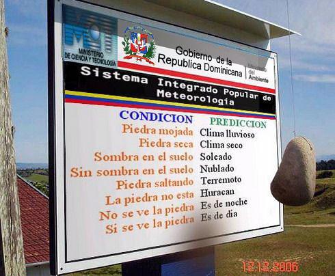 Avances en el Sistema Metereologico Dominicano
