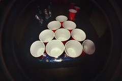 beer pong (pattybgoood) Tags: fisheye cups beerpong redcups