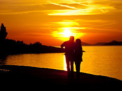 Love in the sunset - Croatia (Terry Yarrow) Tags: light sunset sea love canon evening couple colours croatia romance cavtat g9 theunforgettablepictures