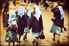 Six Nuns with No Name (Siena) (manlio_k) Tags: texture canon back dof bokeh religion azure nun siena 400d