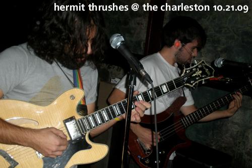 Hermit Thrushes at The Charleston, October 21, 2009, CMJ
