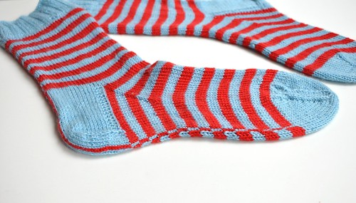 Finished 2. pair of Burning stripes socks-2