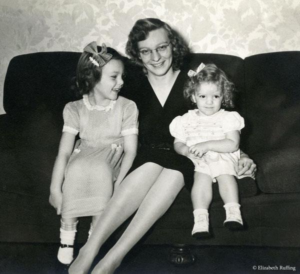 My aunt, Grandma, and Mom