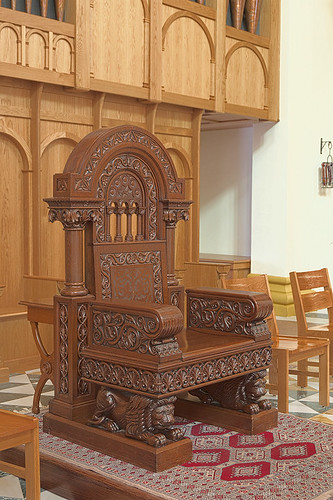 Saint Meinrad Archabbey, in Saint Meinrad, Indiana, USA - Abbot's chair