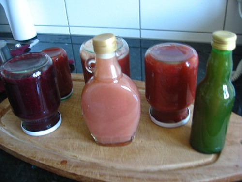 rhubarb jam, compote, syrup