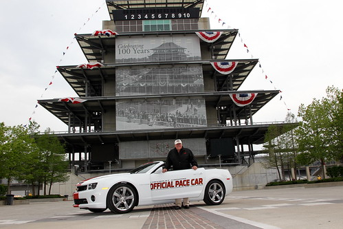 Foyt Accepts the Keys to the Chevrolet Camaro Pace Car